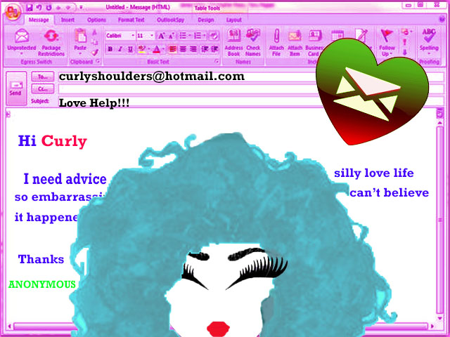 Curly advice email